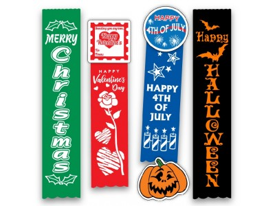 Holiday Ribbons & Buttons